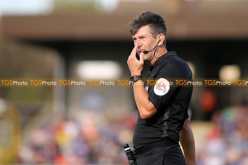 Match referee, Lee Probert during AFC Wimbledon vs Portsmouth, Sky Bet EFL League 1 Football at the Cherry Red Records Stadium on 13th October 2018