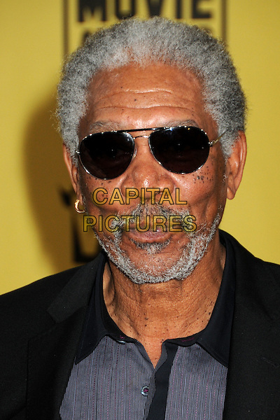 MORGAN FREEMAN .15th Annual Critics' Choice Movie Awards - Arrivals held at the Hollywood Palladium, Hollywood, California, USA, 15th January 2010..portrait headshot beard facial hair sunglasses grey gray black aviators .CAP/ADM/BP.©Byron Purvis/Admedia/Capital Pictures