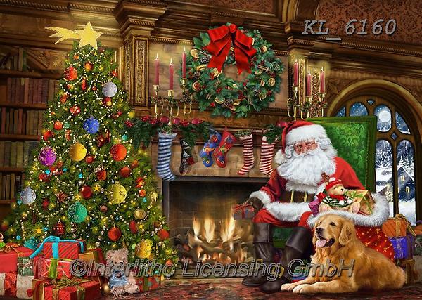 Interlitho-Franco, CHRISTMAS SANTA, SNOWMAN, WEIHNACHTSMÄNNER, SCHNEEMÄNNER, PAPÁ NOEL, MUÑECOS DE NIEVE, paintings+++++,santa, fireplace,KL6160,#x#