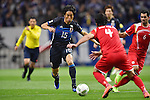 (L-R) Mu Kanazaki (JPN), Hamdi Al Masri, Mohamad Zaher Al Midani (SYR),<br /> MARCH 29, 2016 - Football / Soccer :<br /> FIFA World Cup Russia 2018 Asian Qualifier Second Round Group E match between Japan 5-0 Syria at Saitama Stadium 2002 in Saitama, Japan. (Photo by AFLO)