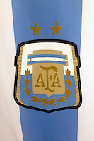 The Argentina team badge on the shirt