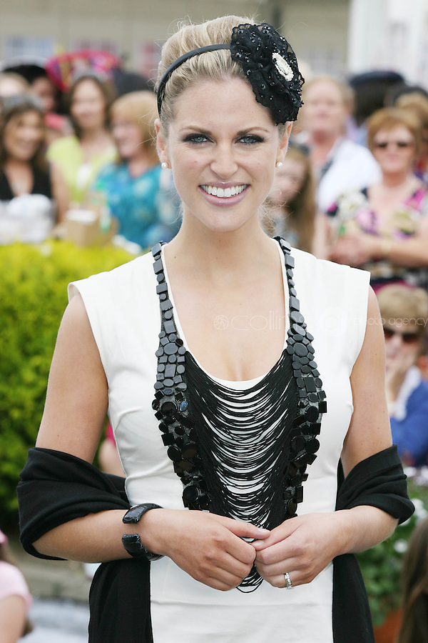 5/8/2010.Blossom Hill Ladies Day. Amy Huberman is pictured at the Blossom Hill Ladies Day at the Fáilte Ireland Dublin Horse Show at RDS. Picture James Horan/Collins Photos