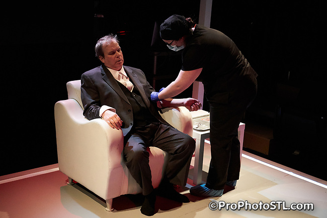 """Infected"" presented by Upstream Theater at Kranzberg Arts Center in St. Louis, Missouri on Feb 8, 2018."