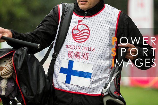 Ursula Wikstrom of Finland's caddie during Round 1 of the World Ladies Championship 2016 on 10 March 2016 at Mission Hills Olazabal Golf Course in Dongguan, China. Photo by Victor Fraile / Power Sport Images