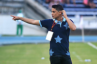 BARRANQUILLA  -COLOMBIA, 17-09-2016. Giovanni Hernández director técnico  del  Junior contra el  Once Caldas    durante encuentro  por la fecha 13 de la Liga Aguila II 2016 disputado en el estadio Metropolitano Roberto Meléndez ./ Giovanni Hernandez coach  of Junior  during macth  against of Once Caldas  during match for the date 13 of the Aguila League II 2016 played at Metropolitano Roberto Melendez stadium . Photo:VizzorImage / Alfonso Cervantes  / Contribuidor