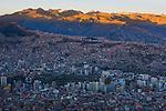 Bolivia, La Paz at sunset
