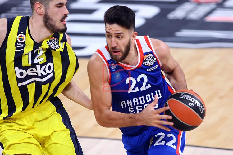 Turkish Airlines Euroleague.<br /> Final Four - Vitoria-Gasteiz 2019.<br /> Semifinals.<br /> Fenerbahce Beko Istanbul vs Anadolu Efes Istanbul: 73-92.<br /> Nikola Kalinic vs Vasilije Micic.