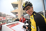 Steven Kruijswijk (NED) Team Lotto NL-Jumbo at sign on before the the start of Stage 4 Yas Island Stage of the 2017 Abu Dhabi Tour, 143km with 26 laps of 5.5km of the Yas Marina Circuit, Abu Dhabi. 26th February 2017.<br /> Picture: ANSA/Claudio Peri | Newsfile<br /> <br /> <br /> All photos usage must carry mandatory copyright credit (&copy; Newsfile | ANSA)