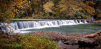 Natural Dam is just what the name implies, a natural rock dam, located at the town of Natural Dam Arkansas.  The dam is nearly 200 feet wide and spans the width of Mountain Fork Creek where it runs into Lee Creek  You can easily view the dam without getting out of your vehicle , but the area features an excellent picnic area.  This is a very popular place for getting your feet wet and swimming during the hot summer months.