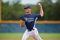 GCL Rays pitcher Joe Gobillot (22) during a Gulf Coast League game against the GCL Pirates on August 7, 2019 at Charlotte Sports Park in Port Charlotte, Florida.  GCL Rays defeated the GCL Pirates 5-3 in the second game of a doubleheader.  (Mike Janes/Four Seam Images)