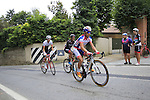 Riders tackle the final climb of Superga near the finish of the 2015 96th Milan-Turin 186km race starting at San Giuliano Milanese, Italy. 1st October 2015.<br /> Picture: Eoin Clarke | Newsfile
