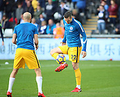 4th November 2017, Liberty Stadium, Swansea, Wales; EPL Premier League football, Swansea City versus Brighton and Hove Albion; Shane Duffy of Brighton warms up before the game