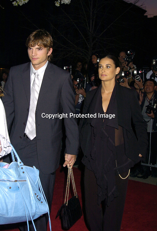 "Ashton Kutcher and Demi Moore ..at a Special Screening of "" A Lot Like Love"" on april 18, 2005 at the Clearview Chelsea West Cinema. ..Photo by Robin Platzer, Twin Images"