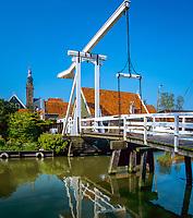 Niederlande, Nordholland, Edam: die Kwakelbrug  | Netherlands, North Holland, Edam: Kwakelbrug bridge