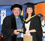 24/10/2014    Pictured at the recent MIC graduations were  Pictured at the recent MIC graduations was Lisa-Jayne O&rsquo;Malley (B.Ed. graduate) from Sixmilebridge, Co. Clare who was awarded the College Silver Medal, presented by Prof. Eamon Conway,  Head of Theology Studies, and the Saint Bonaventure Trust Prize, presented by Bishop Brendan Leahy,  for coming first in Theology and Religious Studies. The Saint Bonaventure Trust was established in 2008 for the advancement of Catholic Theology at Mary Immaculate College. <br /> Close to 1000 students from 23 counties and 3 continents were conferred with academic awards across the College&rsquo;s 27 programmes in addition to 13 students being conferred with PhD awards.Picture Liam Burke/Press 22
