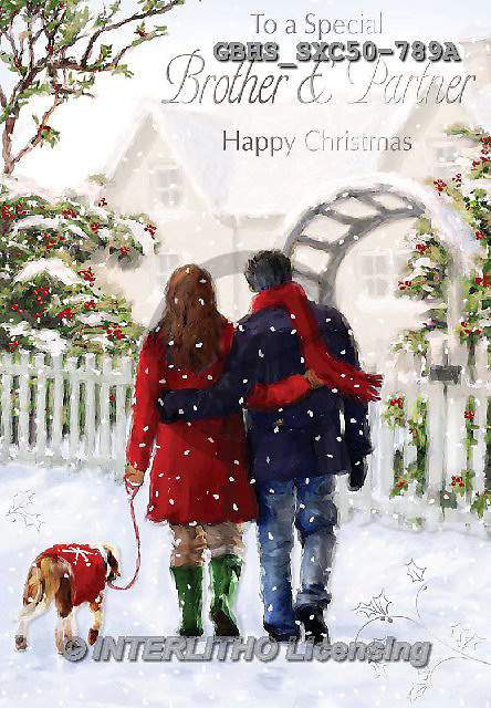 John, CHRISTMAS LANDSCAPES, WEIHNACHTEN WINTERLANDSCHAFTEN, NAVIDAD PAISAJES DE INVIERNO, paintings+++++,GBHSSXC50-789A,#XL# ,#161#