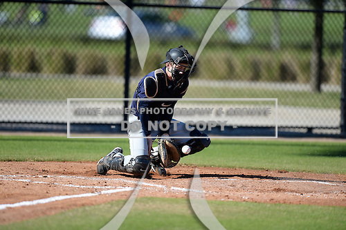 Drew Donathan (31) of Charlotte, North Carolina participates in the Baseball Factory All-America Pre-Season Rookie Tournament, powered by Under Armour, at Lake Myrtle Sports Complex on January 18, 2014 in Auburndale, Florida.  (Copyright Mike Janes Photography)