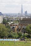 Parliament Hill Fields, north London Skyline UK.