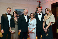 Pictured  at the IHF Ball in the Muckross Park Hotel at the weekend were Mark Bowe, Jane Sayers, Danny and Moya Bowe, John Bowe and Aoife Breen from The Castlerosse Hotel, Killarney.<br /> Photo: Don MacMonagle<br /> <br /> Repro free photo