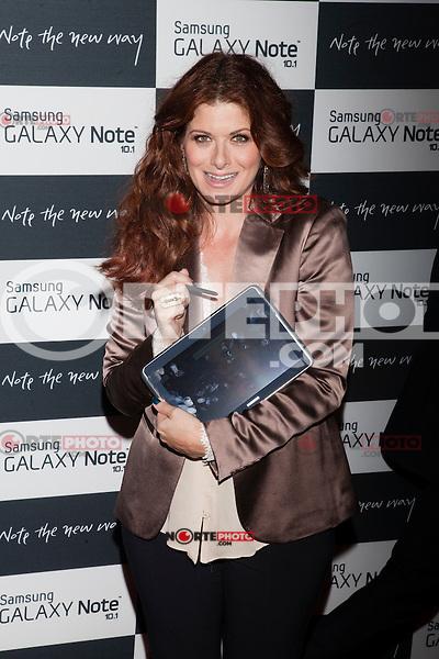Debra Messing attends the Samsung Galaxy Note 10.1 Launch Event in New York City, August 15, 2012. ©Diego Corredor/MediaPunch Inc. /NortePhoto.com<br /> <br /> **CREDITO*OBLIGATORIO** *No*Venta*A*Terceros*<br /> *No*Sale*So*third* ***No*Se*Permite*Hacer*Archivo***No*Sale*So*third*