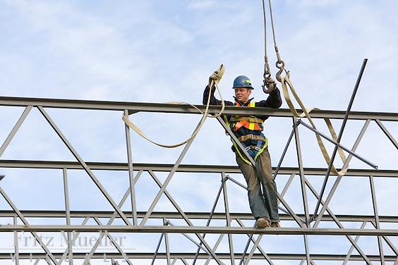 Construction site in Whitehorse, Yukon