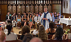 May 30, 2014; Fr. John Jenkins, C.S.C. celebrates Mass with the class of 2009 in the Dillon Hall chapel on Reunion weekend 2014. Photo by Matt Cashore/University of Notre Dame