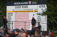 The scoreboard at the 16th indicates Shane Lowry (IRL) could still push for the title during the Final Round of the British Masters 2015 supported by SkySports played on the Marquess Course at Woburn Golf Club, Little Brickhill, Milton Keynes, England.  11/10/2015. Picture: Golffile | David Lloyd<br /> <br /> All photos usage must carry mandatory copyright credit (© Golffile | David Lloyd)