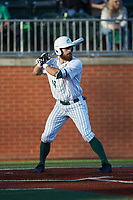Drew Ober (18) of the Charlotte 49ers at bat against the Marshall Thundering Herd at Hayes Stadium on March 22, 2019 in Charlotte, North Carolina. The Thundering Herd defeated the 49ers 12-6. (Brian Westerholt/Four Seam Images)