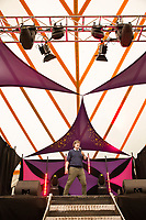 Comedian Glenn Moore performs on day 2 of the 2019 Latitude Festival at Henham Park, Suffolk. 20th July 2019<br /> <br /> Photo by Stuart Hogben