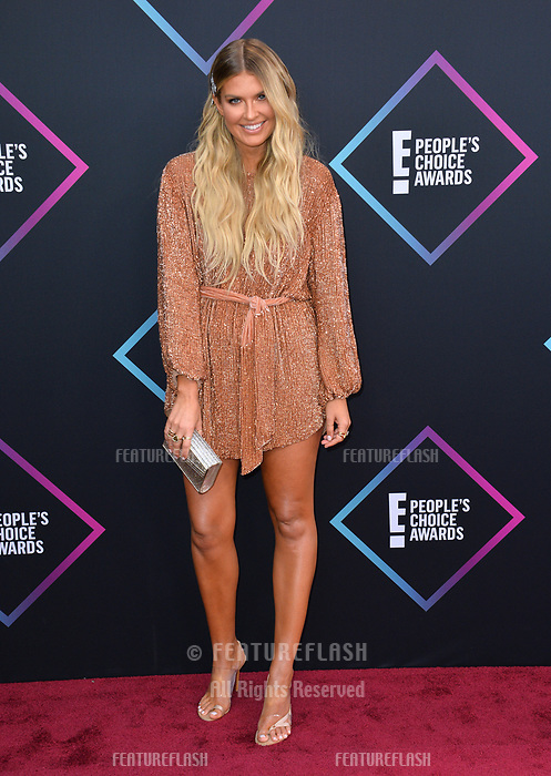 LOS ANGELES, CA. November 11, 2018: Elle Ferguson at the E! People's Choice Awards 2018 at Barker Hangar, Santa Monica Airport.<br /> Picture: Paul Smith/Featureflash