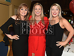 Maria Reid, Niamh Dooley and Michelle Breen at The Mattock Rangers awards night in the Grove House hotel Dunleer. Photo:Colin Bell/pressphotos.ie