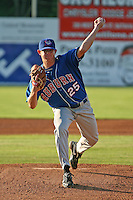 September 3, 2009: Pitcher Egan Smith (25) of the Auburn Doubledays poses for a photo before a game at Dwyer Stadium in Batavia, NY. Auburn is the Short-Season Class-A affiliate of the Toronto Blue Jays. Photo By Mike Janes/Four Seam Images