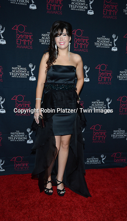 Bainca Moon attends the 40th Annual Daytime Creative Arts Emmy Awards on June 14, 2013 at the Westin Bonaventure Hotel in Los Angeles, California.