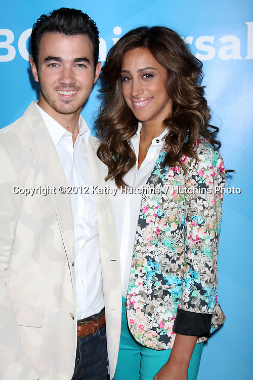 LOS ANGELES - JUL 25:  Kevin Jonas, Danielle Jonas arrives at the NBC Universal Cable TCA Summer 2012 Press Tour at Beverly Hilton Hotel on July 25, 2012 in Beverly Hills, CA