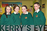 QUIZ TIME: The students of Causeway Comprehensive who competed in the K.S.T.A. Junior Science quiz at Tralee I. T. south campus on Thursday l-r: Emma Quirke, Yvonne Rice, Clare Foley and David Goulding.