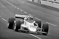 HAMPTON, GA - APRIL 22: Gordon Johncock drives his Penske PC6/Cosworth TC during the Gould Twin Dixie 125 event on April 22, 1979, at Atlanta International Raceway near Hampton, Georgia.