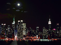 Full Moon over Manhattan as seen from Weehawken, NJ