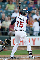 Round Rock Express catcher Jason Castro against the Reno Aces on Friday May 21st, 2010 at Dell Diamond in Round Rock, Texas.  (Photo by Andrew Woolley / Four Seam Images)