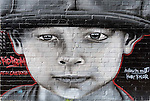 """May Lane street art """"Kid from New Caledonia"""" by Kuby Kolor in St. Peters, Sydney, NSW, Australia"""