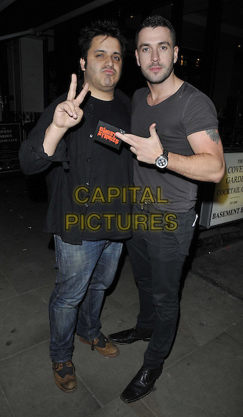 LONDON, ENGLAND - FEBRUARY 27: guest &amp; Shayne Ward attend the &quot;Ghost Stories&quot; press night, The Arts Theatre, Great Newport St., on Thursday February 27, 2014 in London, England, UK.<br /> CAP/CAN<br /> &copy;Can Nguyen/Capital Pictures