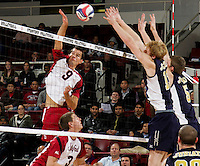 STANFORD, CA - January 13, 2012:  Brad Lawson during Stanford's 25-13, 20-25, 25-14, 25-14 victory over Juniata in Stanford, California on January 13, 2012.