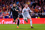 Iago Aspas of Spain (R) in action against Marcos Rojo of Argentina (L) during the International Friendly 2018 match between Spain and Argentina at Wanda Metropolitano Stadium on 27 March 2018 in Madrid, Spain. Photo by Diego Souto / Power Sport Images
