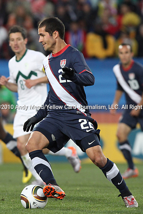 18 JUN 2010:  Benny Feilhaber (USA)(22).  The Slovenia National Team tied the United States National Team 2-2 at Ellis Park Stadium in Johannesburg, South Africa in a 2010 FIFA World Cup Group C match.