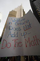 The Ontario Coalition Against Poverty rally and march during the Poverty Free Ontario Day of Action, November 5, 2009.