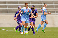 Bridgeview, IL, USA - Sunday, May 1, 2016: Chicago Red Stars midfielder Sofia Huerta (11) during a regular season National Women's Soccer League match between the Chicago Red Stars and the Orlando Pride at Toyota Park. Chicago won 1-0.