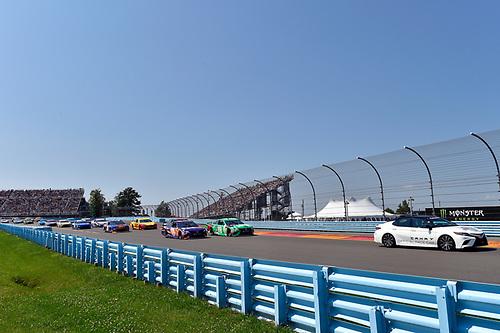 Toyota Pace car, #18: Kyle Busch, Joe Gibbs Racing, Toyota Camry M&M's Flavor Vote Winner, #11: Denny Hamlin, Joe Gibbs Racing, Toyota Camry FedEx Ground