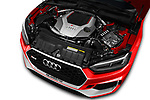 Car stock 2018 Audi RS5 Base 2 Door Coupe engine high angle detail view