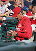Tony LaRussa of the St. Louis Cardinals vs. the Atlanta Braves March 16th, 2007 at Champion Stadium in Orlando, FL during Spring Training action.  Photo copyright Mike Janes Photography 2007.