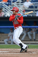 Batavia Muckdogs outfielder Victor Castro (29) during a game against the Mahoning Valley Scrappers on September 1, 2013 at Dwyer Stadium in Batavia, New York.  Mahoning Valley defeated Batavia 6-0.  (Mike Janes/Four Seam Images)