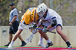 Los Angeles, CA 02-26-17 - unidentified UC Santa Barbara player(s) and unidentified LMU player(s) in action during the MCLA conference game between LMU and UC Santa Barbara.  Santa Barbara defeated LMU 15-0.